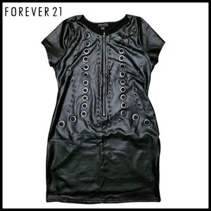 Forever 21 Black Stretchy Dress